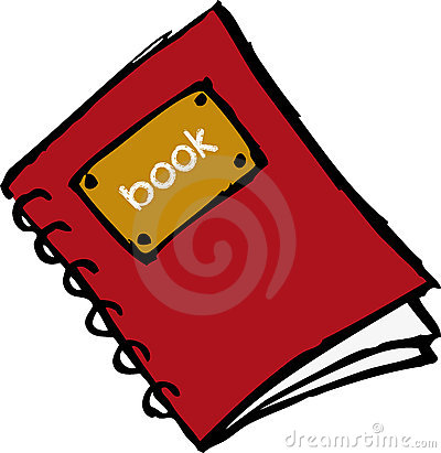 Red book with spiral
