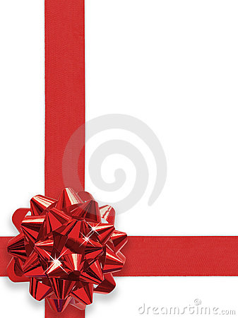 Free Red Bow Stock Image - 1539531