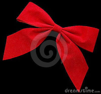 Red Bow Stock Photo - Image: 7387510