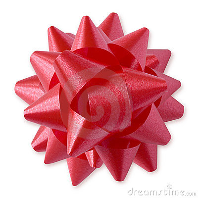 Red Bow (+clipping path)