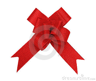 Red bow cutout
