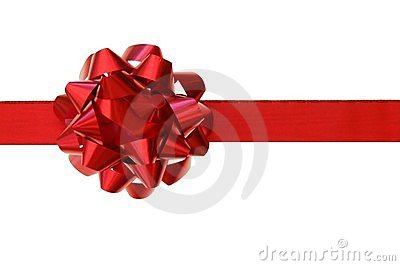 Red bow, gift