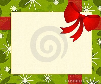 Red Bow Gift Wrap Background