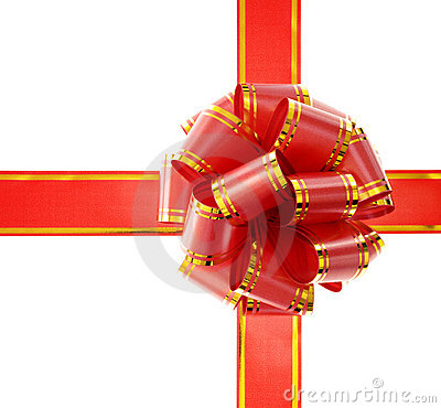 Free Red Bow Isolated On White Royalty Free Stock Images - 7301929