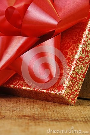 Red Bow on Open Gift Box