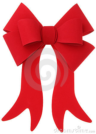 Red bow & ribbon