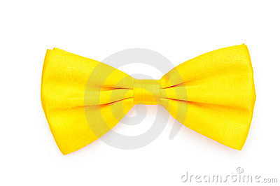 Red bow tie isolated