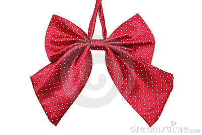 Red Bow tie for women