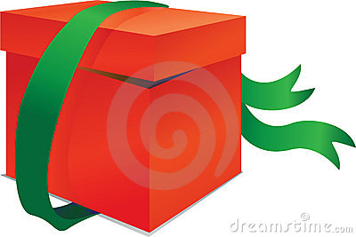 Red Box With Green Band Stock Photos - Image: 16794073