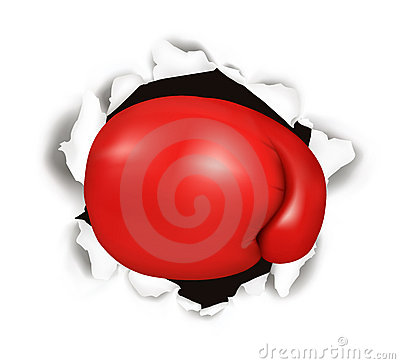 Free Red Boxing Glove. Conceptual . Royalty Free Stock Images - 17830229