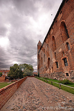 Red brick castle