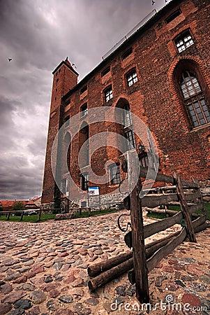 Red brick castle