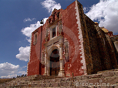 Red brick church in Mexico