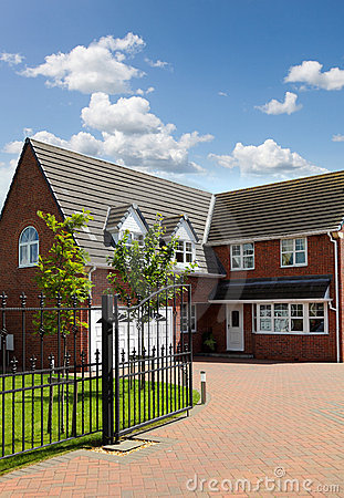 Free Red Brick House UK Stock Photo - 19779390
