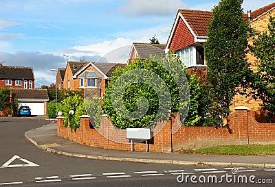 Red brick houses UK