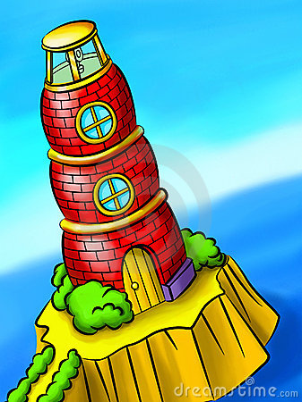 Free Red Brick Lighthouse Royalty Free Stock Photos - 7690998