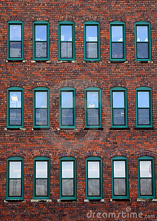 Free Red Brick Office Building Stock Image - 8872121