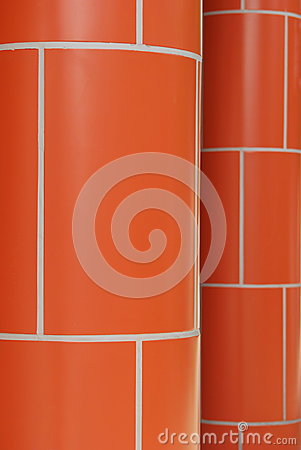 Red Brick Pillars
