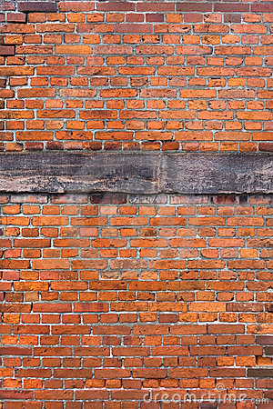 Red brick reinforced wall