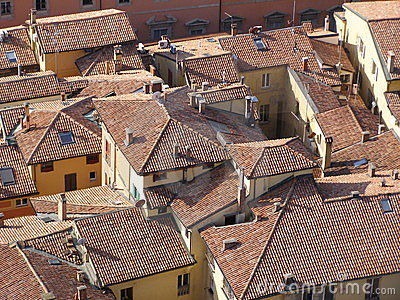 Red brick roofs