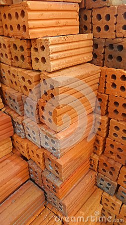 Free Red Brick Stack Stock Photography - 50399202