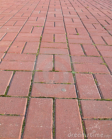 Red brick, travel street concept,