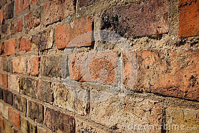 Red Brick Wall from Angle