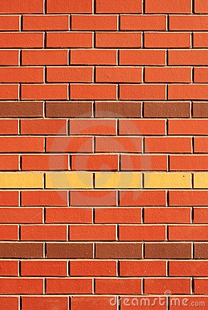 Red Brick Wall with Feature Rows