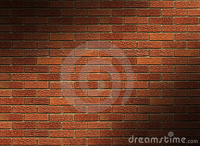 Red Brick Wall Lit Diagonally