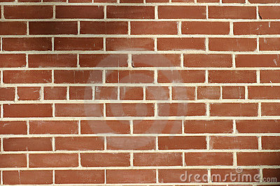 Red Brick Wall Pattern for Background Stock Photo