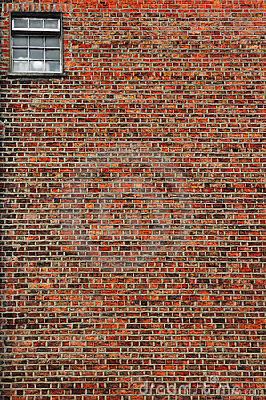 Free Red Brick Wall With Small Window Stock Photos - 5935783