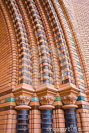 Free Red Bricks Church Ornaments Royalty Free Stock Image - 15351186