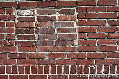 Red bricks of a wall