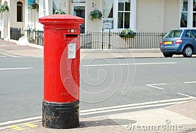 Red british mailbox