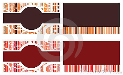 Red Brown Business Cards