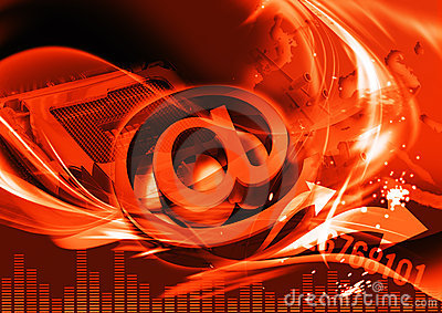 Red browser header for web site