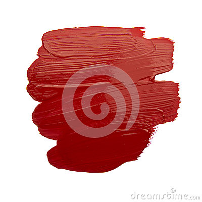 Free Red Brush Stroke Royalty Free Stock Photos - 95991268