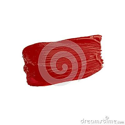 Free Red Brush Stroke Royalty Free Stock Image - 95991636