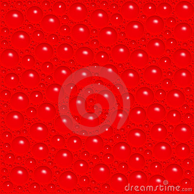 Red bubbles background