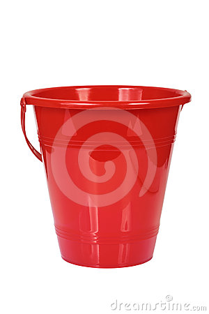 Red bucket.