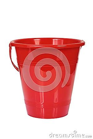 Red bucket.