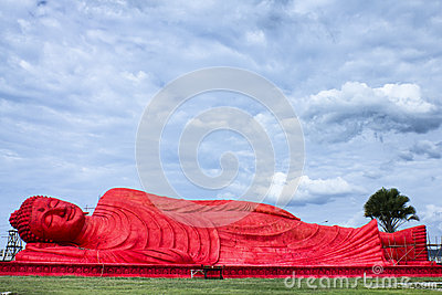 The red buddha statue at Songkhla, Thailand