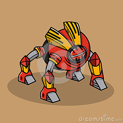 Free Red Bugs Robot Royalty Free Stock Images - 43859209