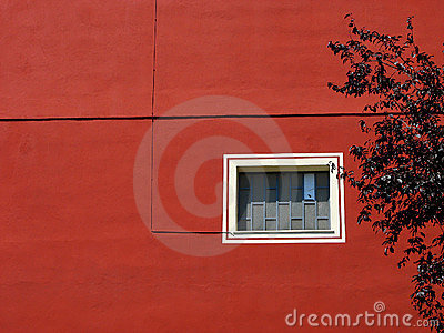 Red building wall