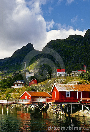 Red Buildings, Lofoten Islands, Norway