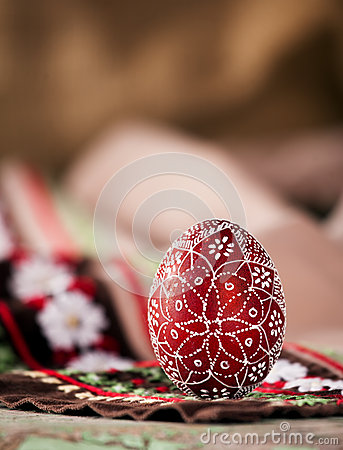 Free Red Bulgarian Easter Egg Stock Photo - 39212360