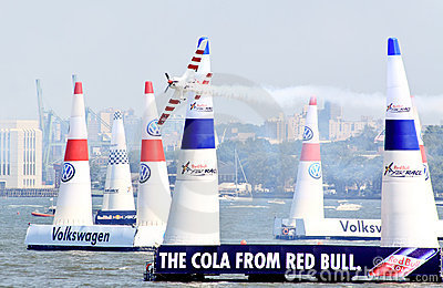 Red Bull Air Race at New York Harbor Editorial Stock Image