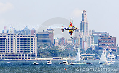 Red Bull Air Race at New York Harbor Editorial Photo