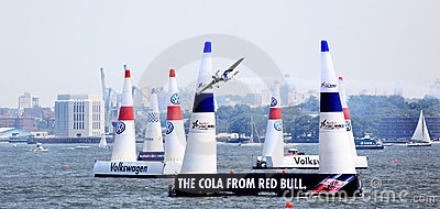 Red Bull Air Race at New York Harbor Editorial Photography