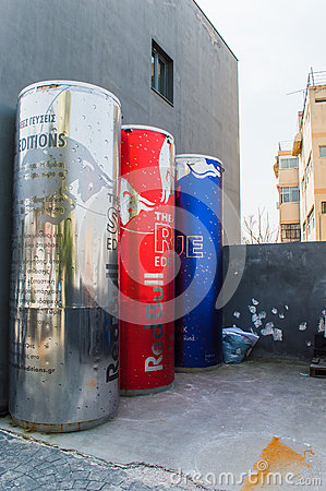 Red bull Editorial Photo
